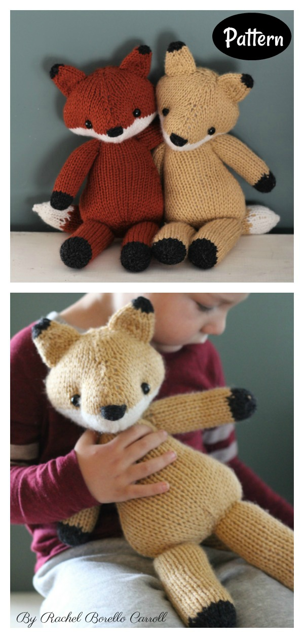 Emerson the Fox Knitting Pattern
