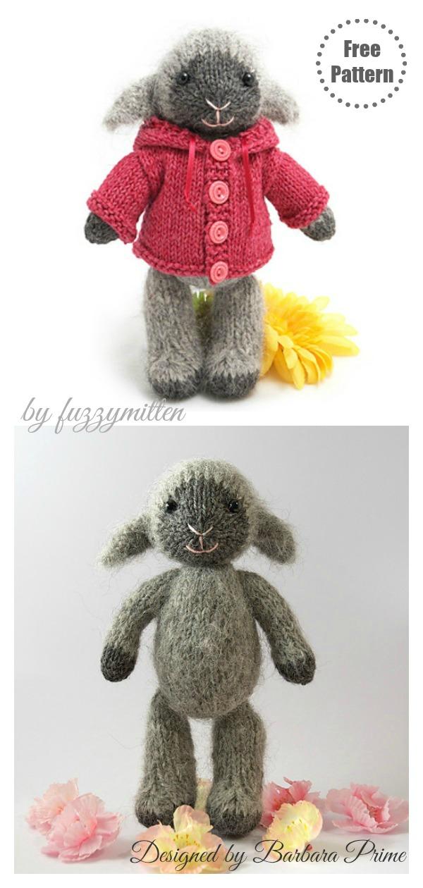 Fuzzy Mitten Lamb Amigurumi Free Knitting Pattern