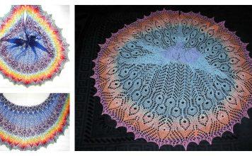 Gamayun Bird Shawl Free Knitting Pattern