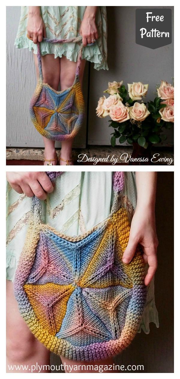 Gina Hexagon Felt Bag Free Knitting Pattern