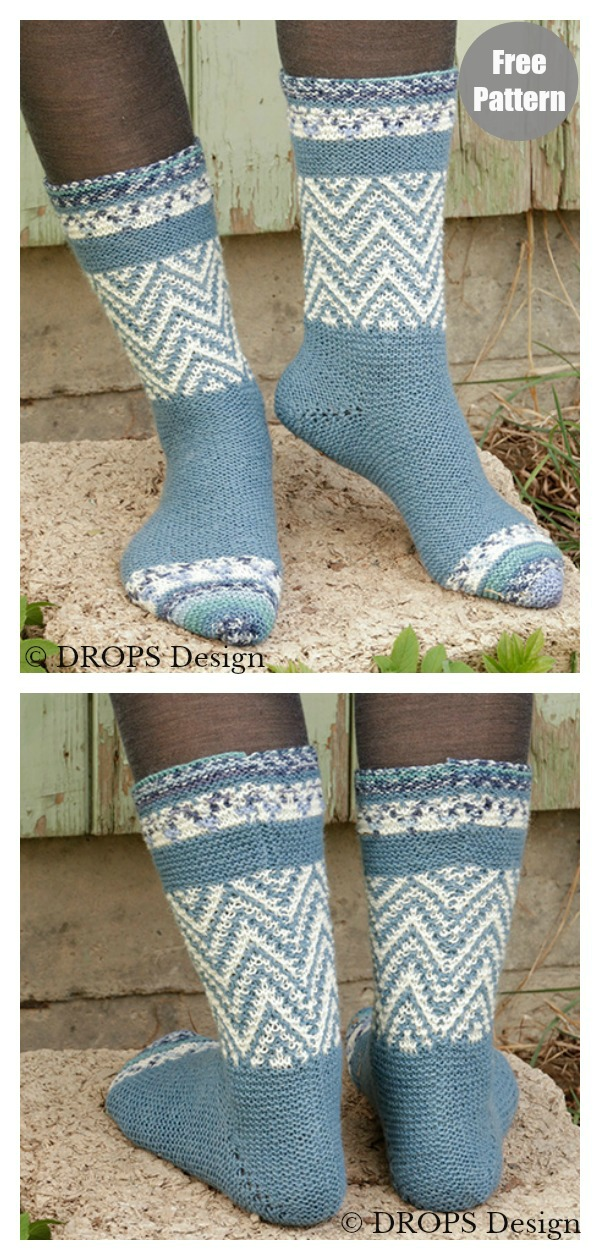 Hurtigruten Zig Zag Socks Free Knitting Pattern