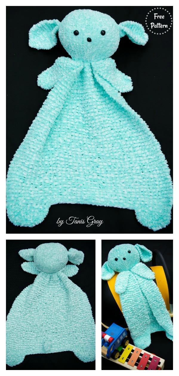 Lamby Lovey Blanket Free Knitting Pattern