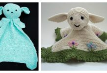 Little Lamb Lovey Blanket Knitting Pattern