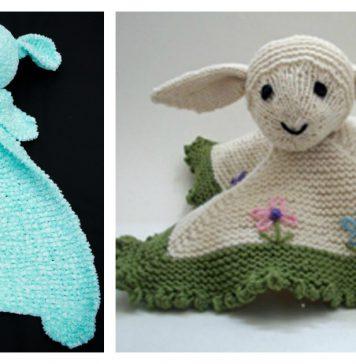 Little Lamb Lovey Blanket Knitting Pattern