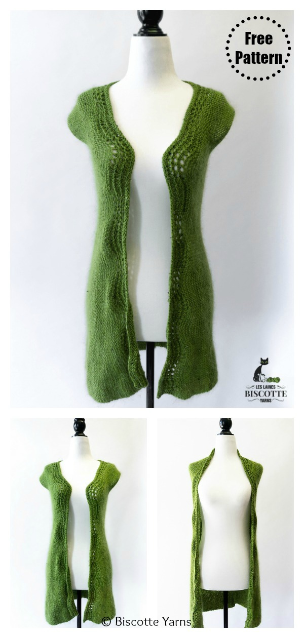 Long Vest Free Knitting Pattern