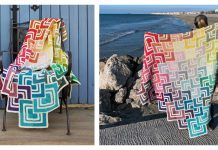 Overlapping Blanket Free Knitting Pattern