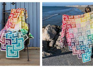 Overlapping Blanket Free Knitting Pattern