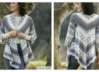 Triangular Cardigan Free Knitting Pattern