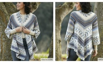 Triangular Cardigan Free Knitting Pattern