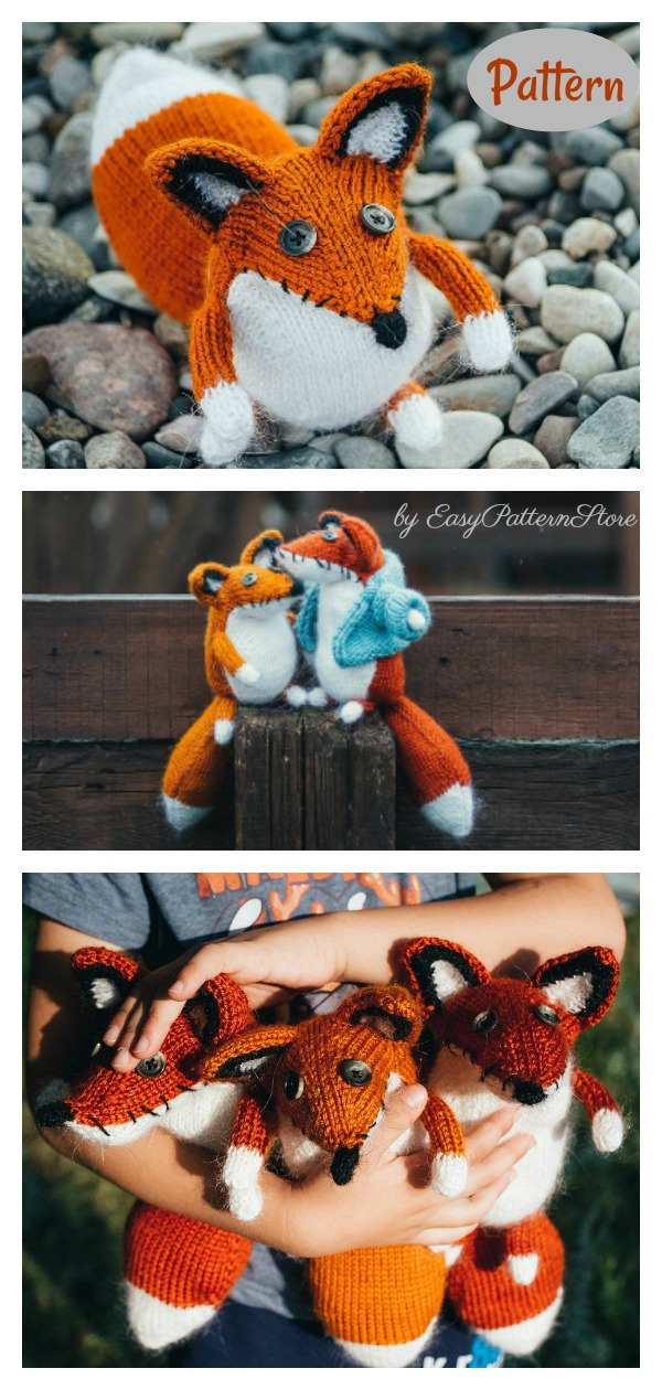 Red Fox Knitting Pattern