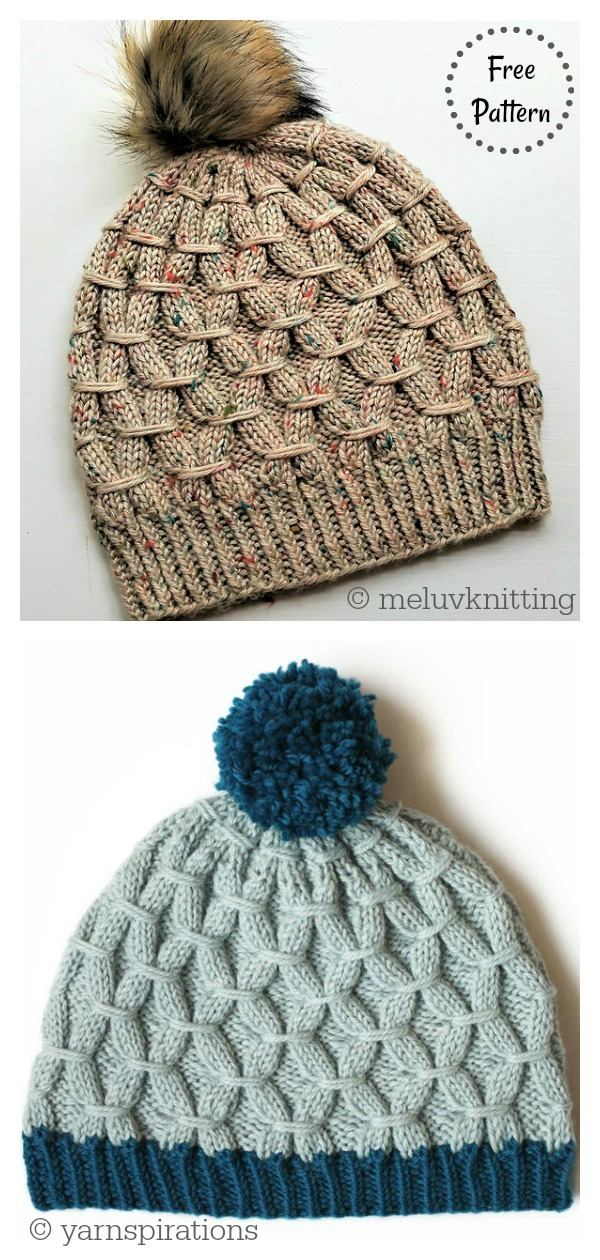 Rock the Smock Hat Free Knitting Pattern