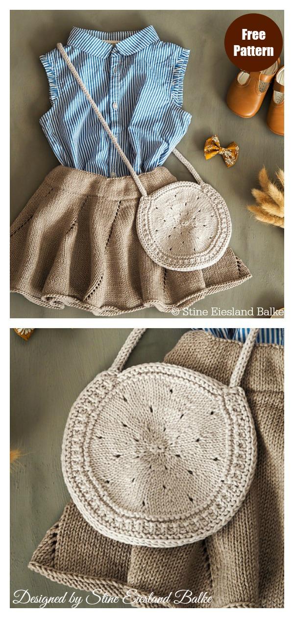 Round Bag Free Knitting Pattern