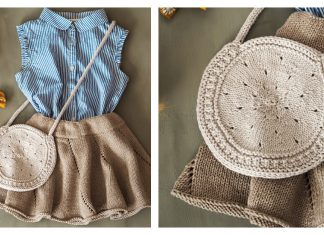 Round Bag Free Knitting Pattern