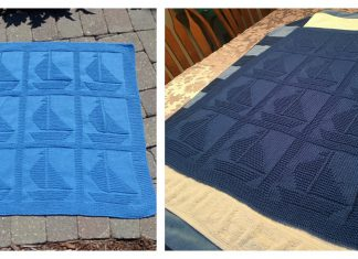 Sailboat Baby Blanket Free Knitting Pattern