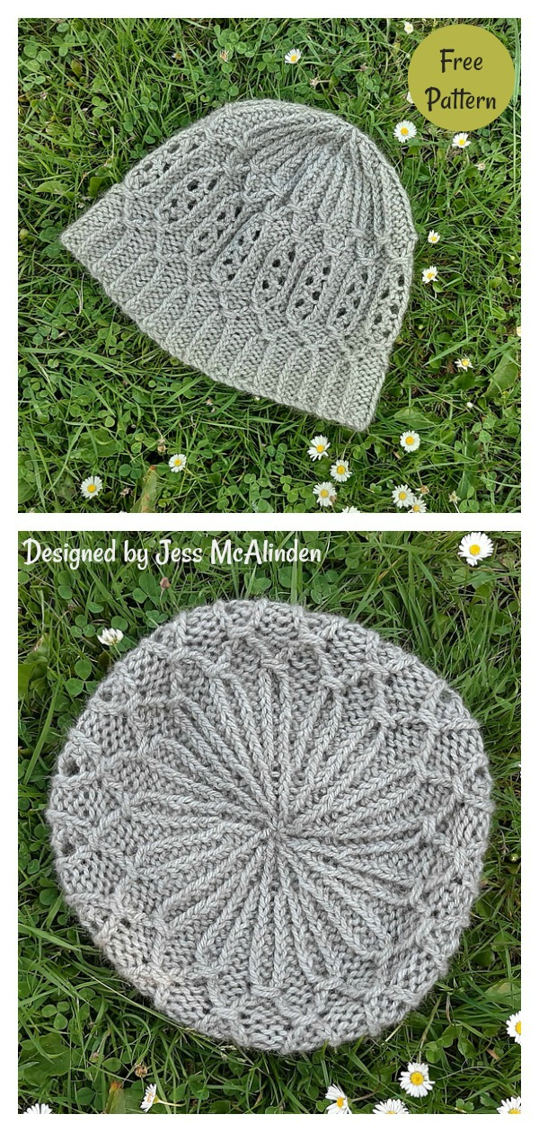 Smocking Stitch First Light Beanie Free Knitting Pattern