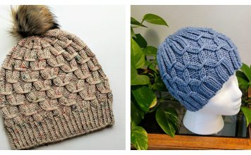 Smocking Stitch Hat Free Knitting Pattern