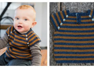 Stripes Baby Vest Free Knitting Pattern