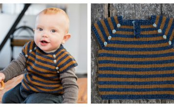 Stripes Baby Vest Free Knitting Pattern