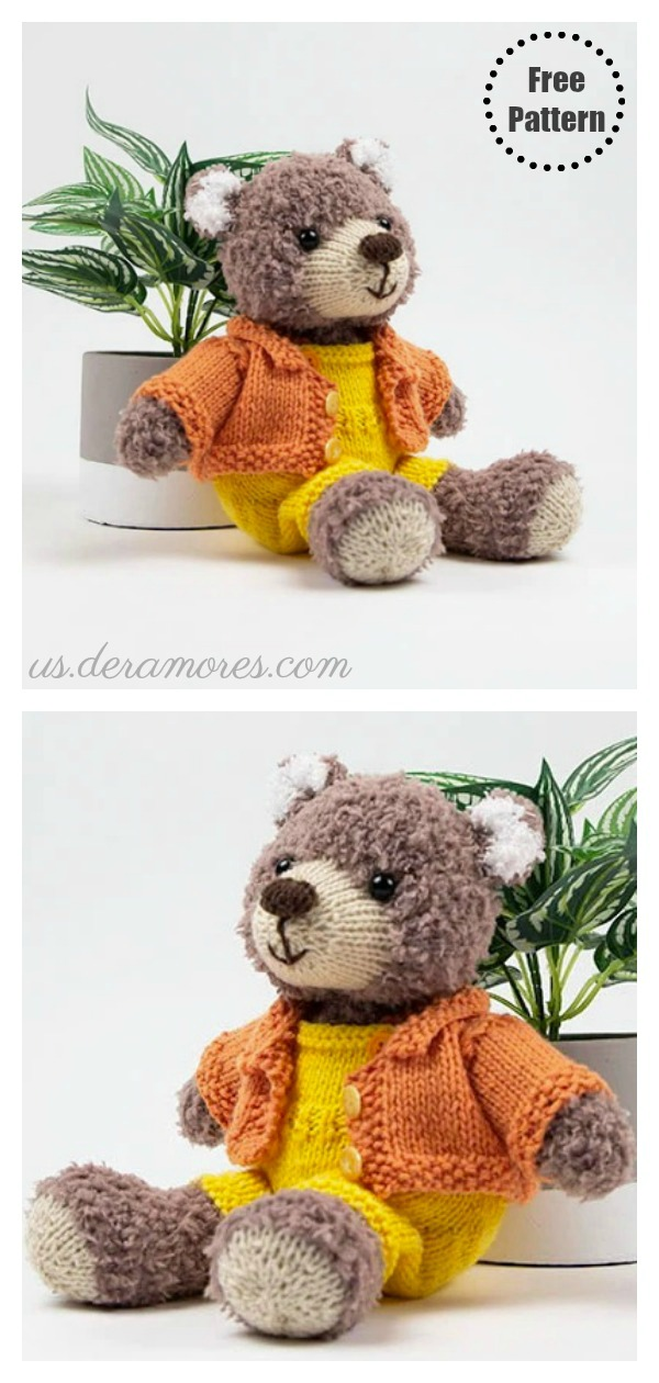 Teddy Bear Free Knitting Pattern