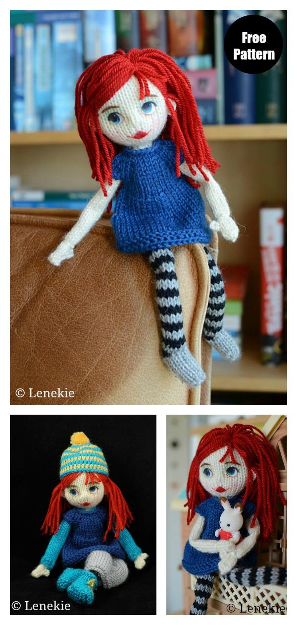 Travel Doll Free Knitting Pattern