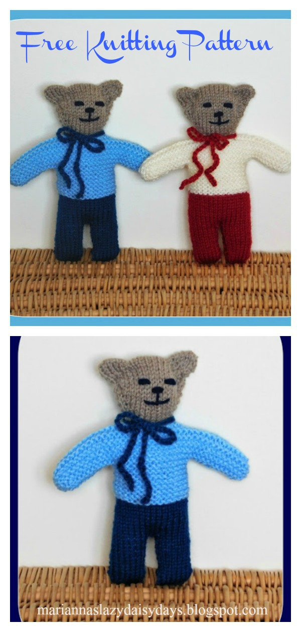 Wilfred Teddy Bear Free Knitting Pattern