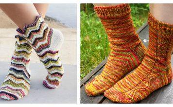Zig Zag Socks Free Knitting Pattern
