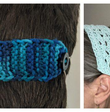 3 Face Mask Ear Savers Free Knitting Patterns