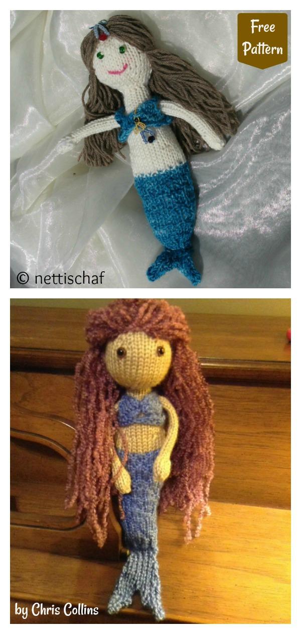 Adorable Mermaid Doll Free Knitting Pattern