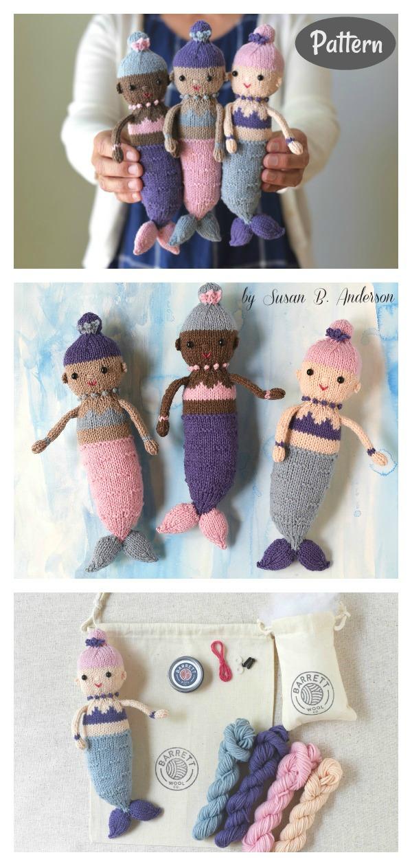 Adorable Mermaid Doll Knitting Pattern