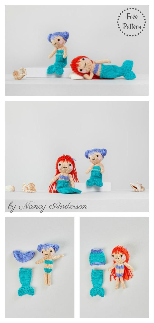 Amigurumi Mermaid Doll Free Knitting Pattern