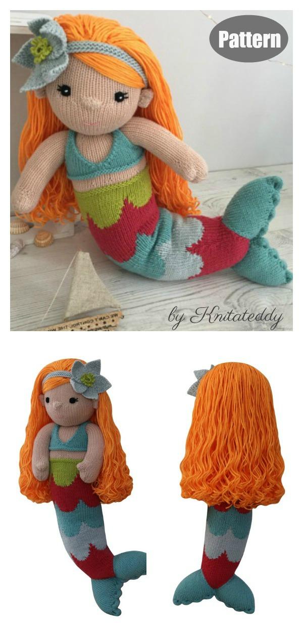 Amigurumi Mermaid Doll Knitting Pattern
