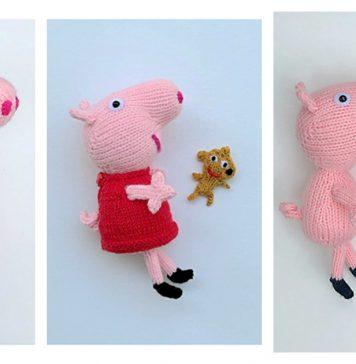 Patrón de Peppa Pig a ganchillo | 364x356