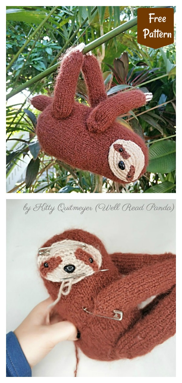 Amigurumi Sloth Free Knitting Pattern