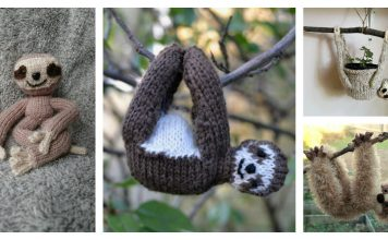 Amigurumi Sloth Free Knitting Pattern and Paid