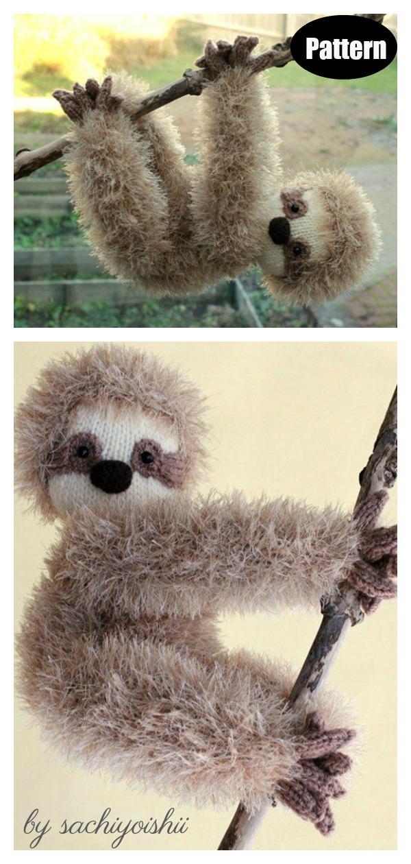 Amigurumi Sloth Knitting Pattern