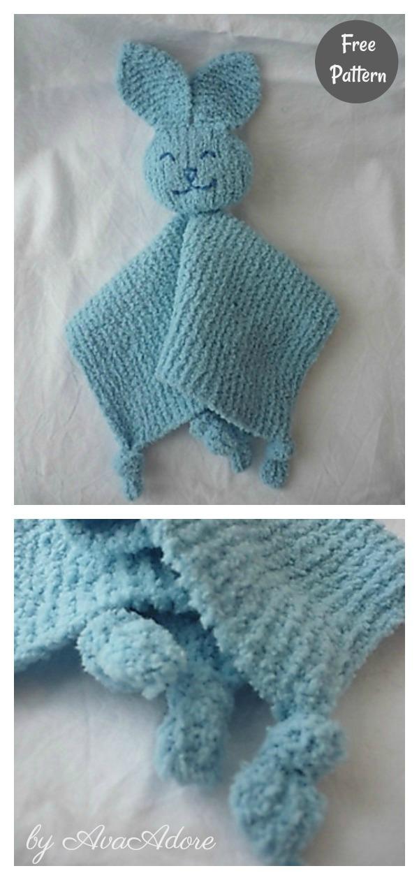 Baby's Best Friend Bunny Lovey Blanket Free Knitting Pattern