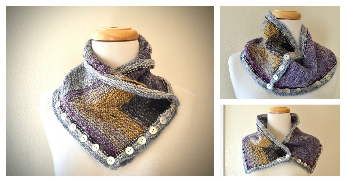 Convertible Buttoned Cowl Knitting Pattern