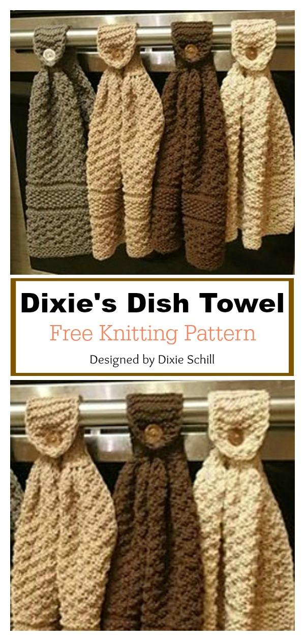 Dixie's Hanging Dish Towel Free Knitting Pattern