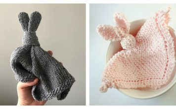 Easy Bunny Lovey Blanket Free Knitting Pattern