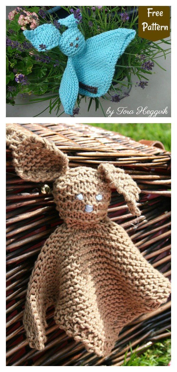 5 Easy Bunny Lovey Blanket Free Knitting Pattern