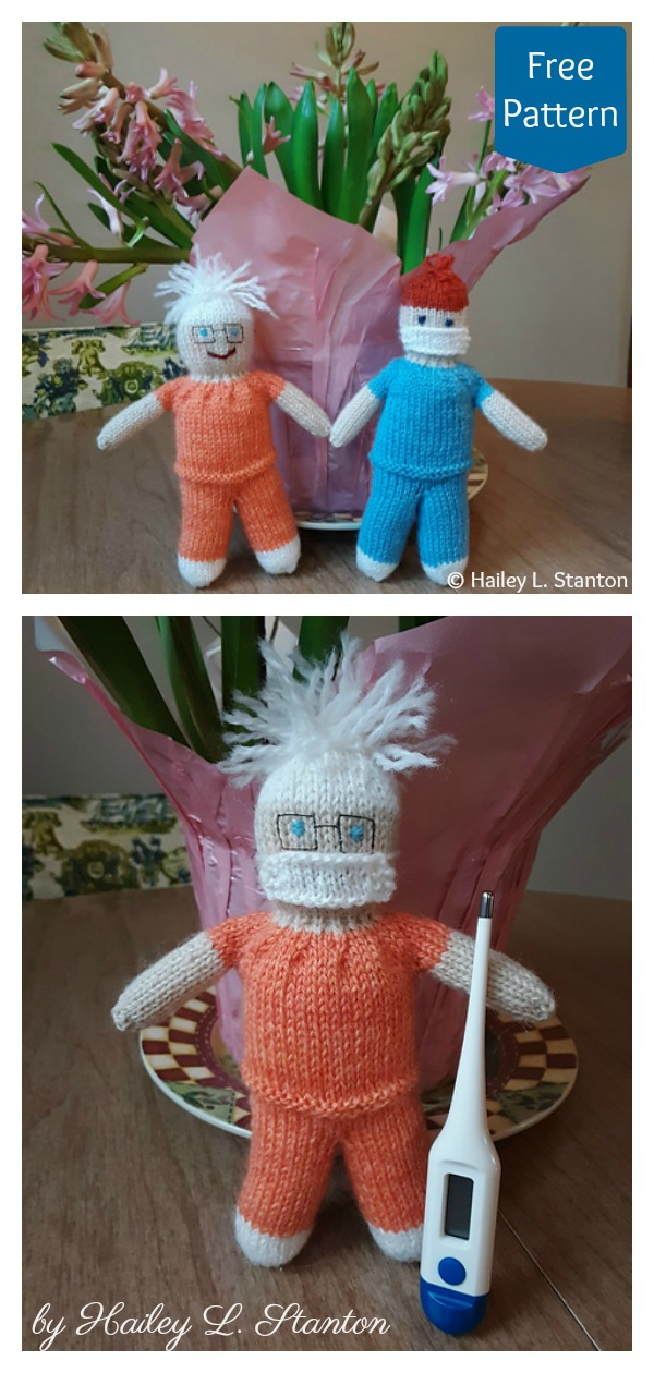 Friendly Nurses Doll Free Knitting Pattern