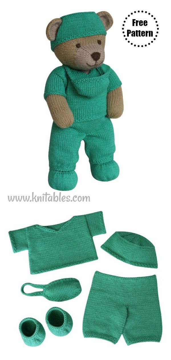 Frontline Hero Teddy Bear Free Knitting Pattern