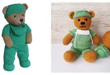 Frontline Hero Teddy Bear Free Knitting Pattern