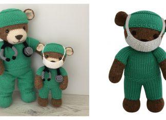 Hero Teddy Bear Free Knitting Pattern