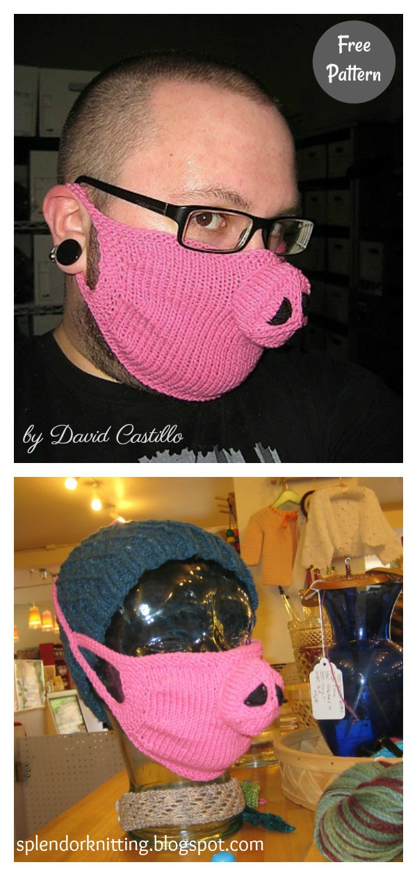 Funny Face Mask Free Knitting Pattern