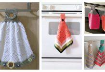 Hanging Dish Towel Free Knitting Pattern