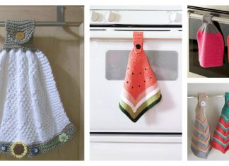 Hanging Dish Towel Free Knitting Pattern