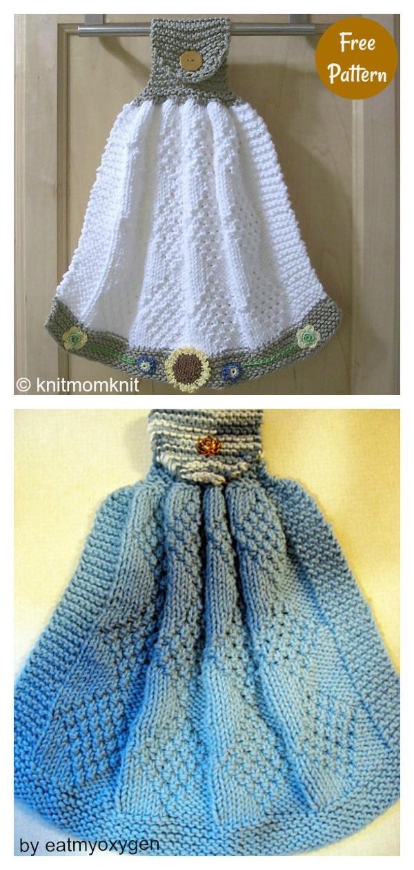Hanging Reverse Diamond Dish Towel Free Knitting Pattern