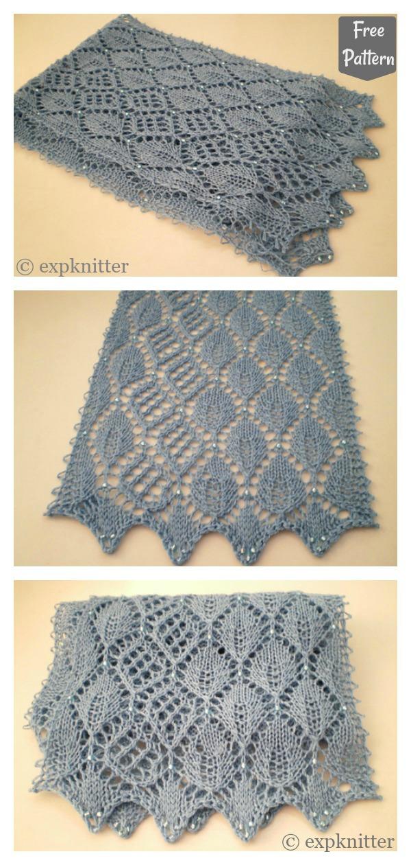 Leaf Lace Scarf Free Knitting Pattern