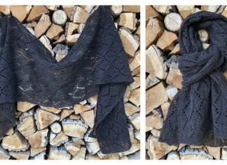 Leaf Lace Shawl Free Knitting Pattern